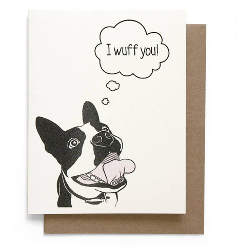 Wuff You Greeting Card