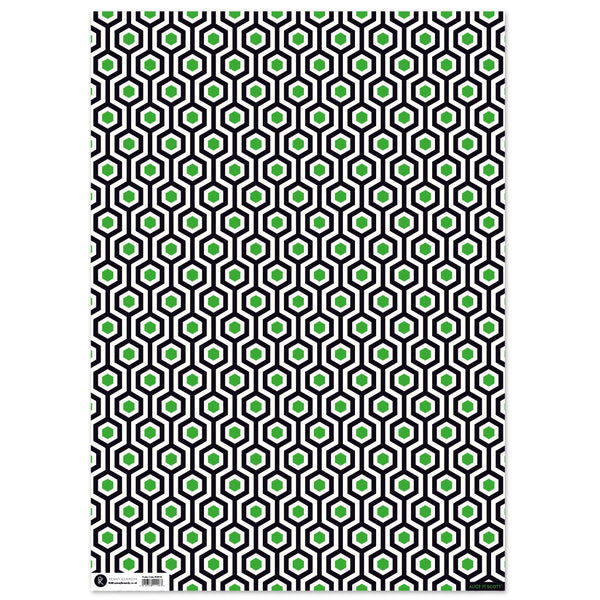 Geo Hex Flat gift wrapping paper