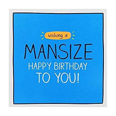 Mansize Birthday Greeting Card