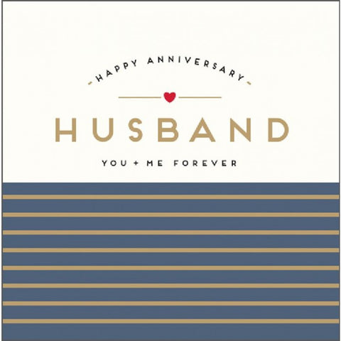 Husband Anniversary Card You + Me Forever