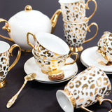 Signature Teacups, Louis Leopard Gold