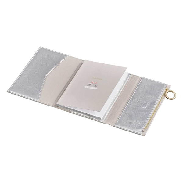 Notebook with Pencil Case Silver