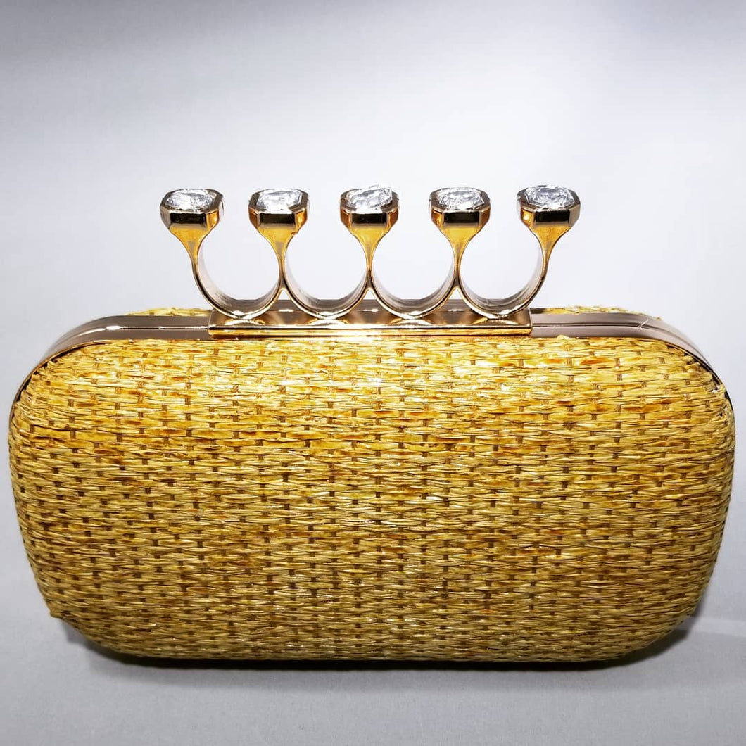 Limited Edition Cloie Woven Four-Finger Clutch
