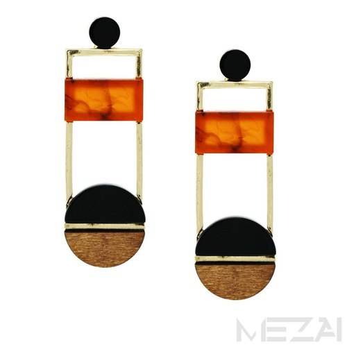 Aja Geometric Drop Earrings