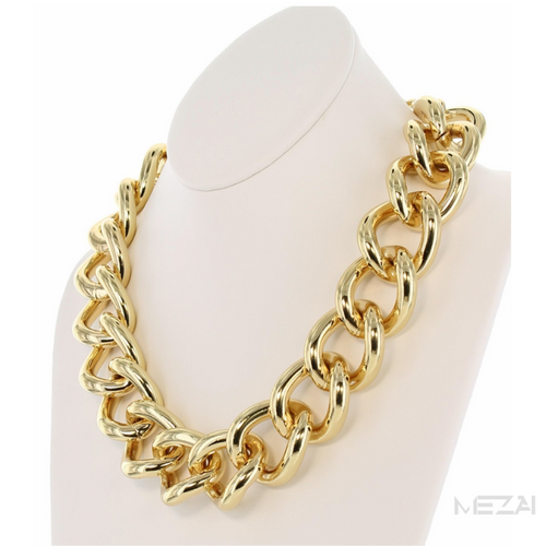 Chunky Wide Chain Link Necklace