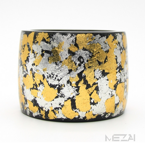 Gold/Silver Flakes Resin Bangle