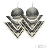 Gia Geo Drop Earrings