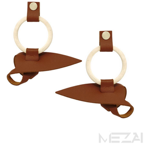 Urban Twisted Earrings (Brown)