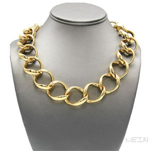Wide Link Chain Necklace