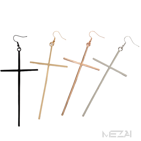 Jumbo Cross Earrings