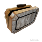 Limited Edition Acrylic & Wood Clutch