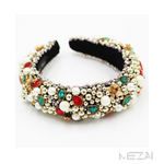 Embellished Gemstone and Resin Baroque Headband