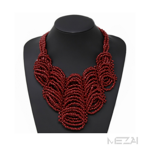 Chunky Ribbed Seed Bead Necklace (5 colors)