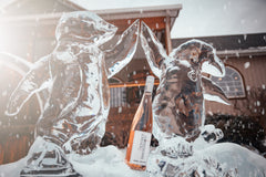 Ice sculptures at Three Brothers Wineries