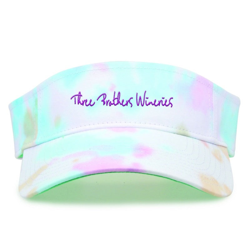 3Bros Tye Dye Visor - Three Brothers Wineries and Estates