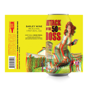 """Attack of the 50 Foot Boss"" Barley Wine 4-Pack - Three Brothers Wineries and Estates"