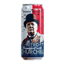 Load image into Gallery viewer, Nitro Breakfast with Churchill Oatmeal Coffee Stout 4-Pack - Three Brothers Wineries and Estates