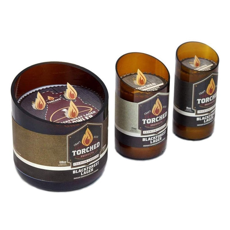 Torched Beer Bottle Candle - Three Brothers Wineries and Estates