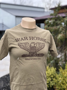 War Horse Logo T-Shirt Brown - Three Brothers Wineries and Estates