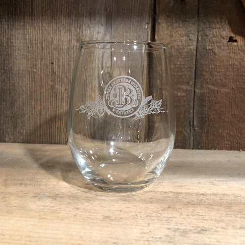 3 Bros 9 oz Wine Glass - Three Brothers Wineries and Estates