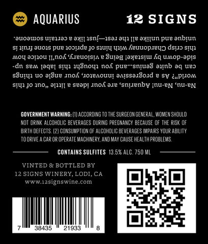 Aquarius Wine Chardonnay