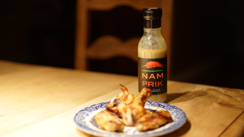 Nam Prik chili sauce with wings