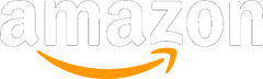 Amazon logo in white