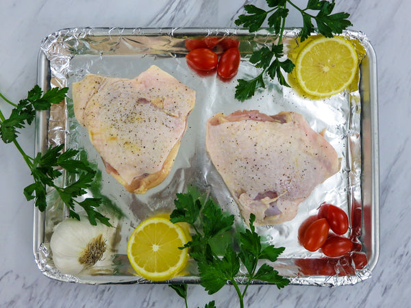 raw chicken thighs