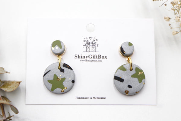 Silver & Green Star Dangle
