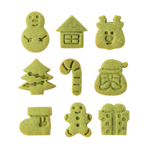 Mini 3cm Christmas Cookie Cutters and Embossers 9pcs Set