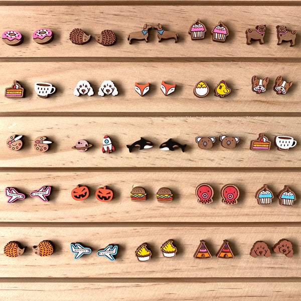 Assorted Animals / Food / Novelty Wooden Earrings