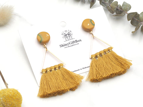 Gold Mustard Triangle Tassels