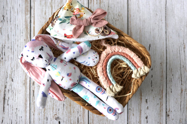 Baby Girl Rainbow Gift Set - Curated Handmade Gifts