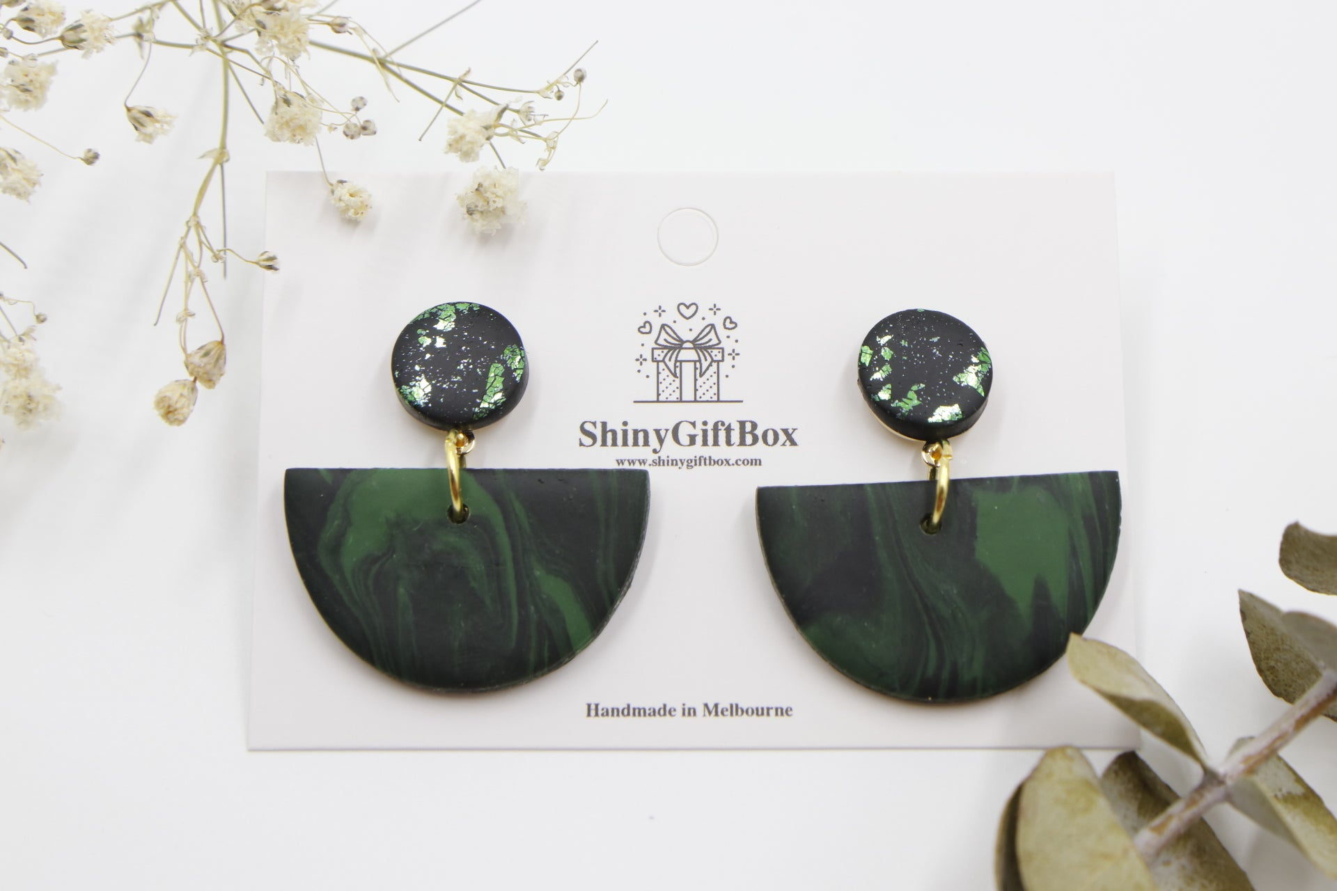Black & Green Half Moon