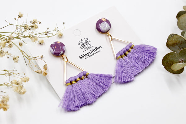 Purple Triangle Tassels