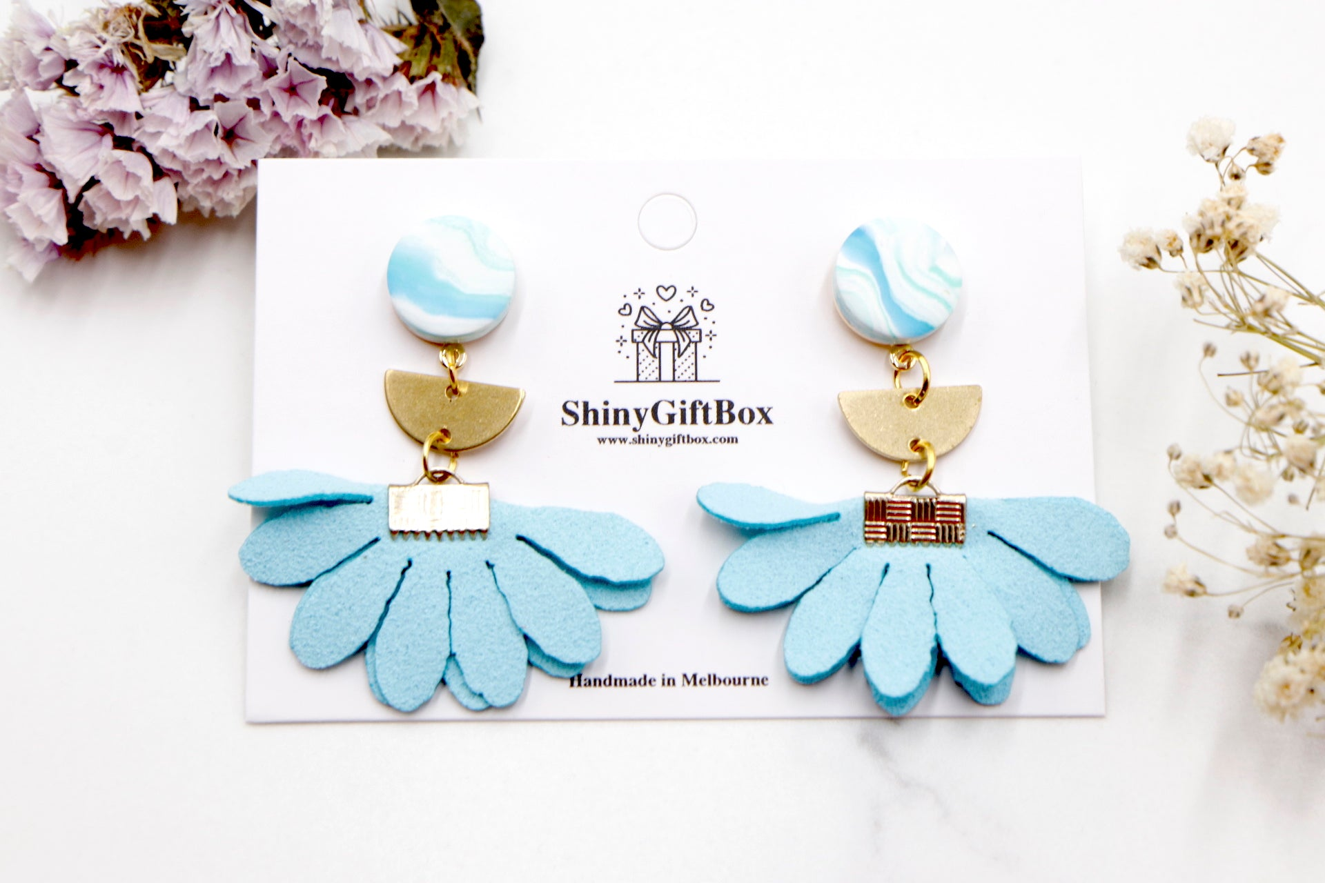 Light Blue & Gold Flower 2