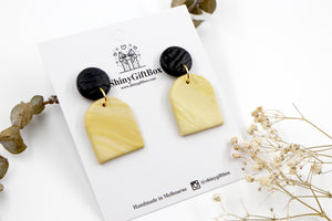 Black & Mustard Yellow Dangle