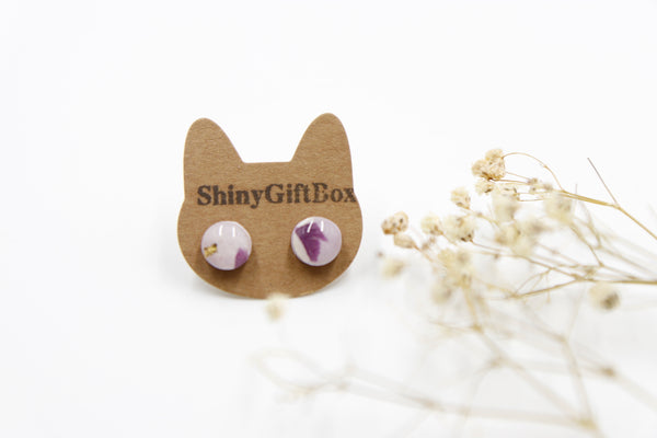 Mini Purple Resin Studs