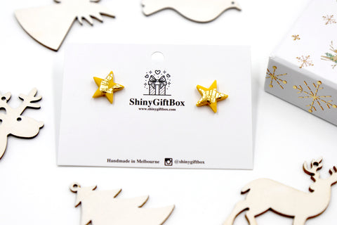 Yellow & Gold Star Studs