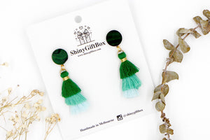 Black & Green Trio Tassels
