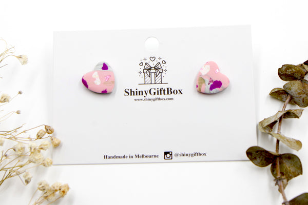 Pink Splash Small Studs Collection