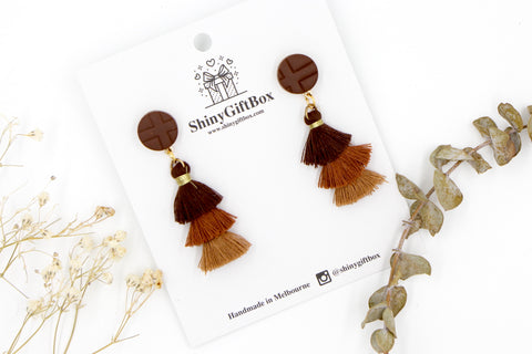 Brown Trio Tassels