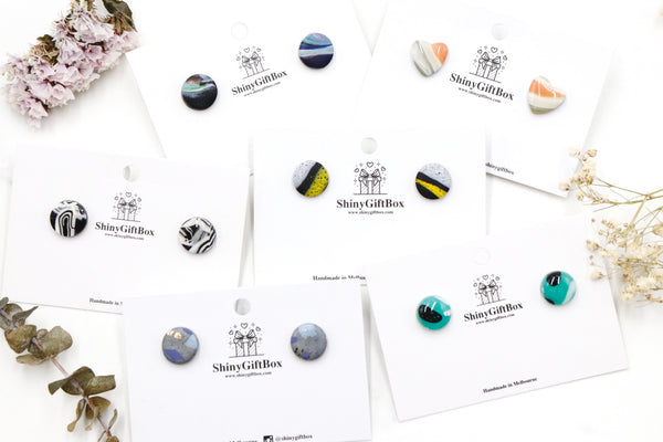 Colour Lines Small Studs Collection