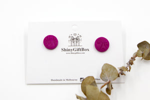 Magenta Butterfly Textured Studs
