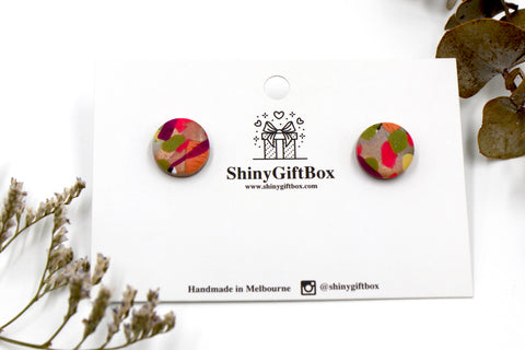 Colour Splash Glittery Studs