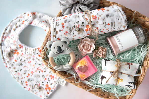 Baby & Mum Rabbit & Mushroom Gift Set - Curated Handmade Gifts