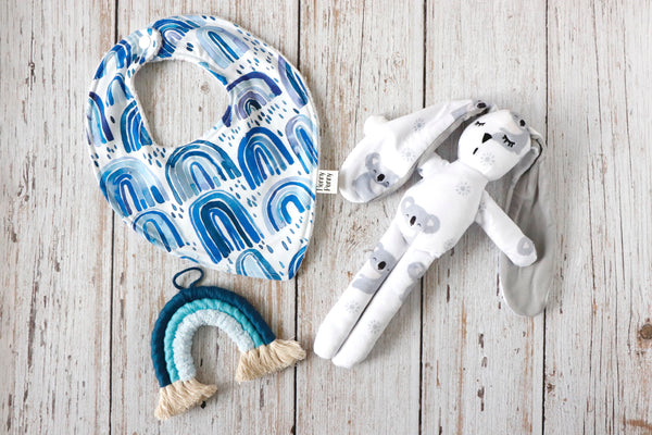 Baby Boy Rainbow Gift Set - Curated Handmade Gifts