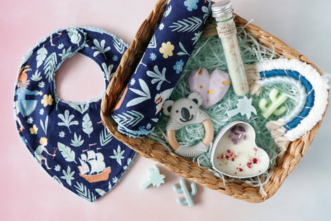 Baby Boy & Mum Gift Set - Curated Handmade Gifts