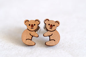 Koala Wooden Earrings