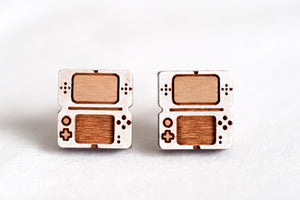 Game Console Wooden Stud Earrings